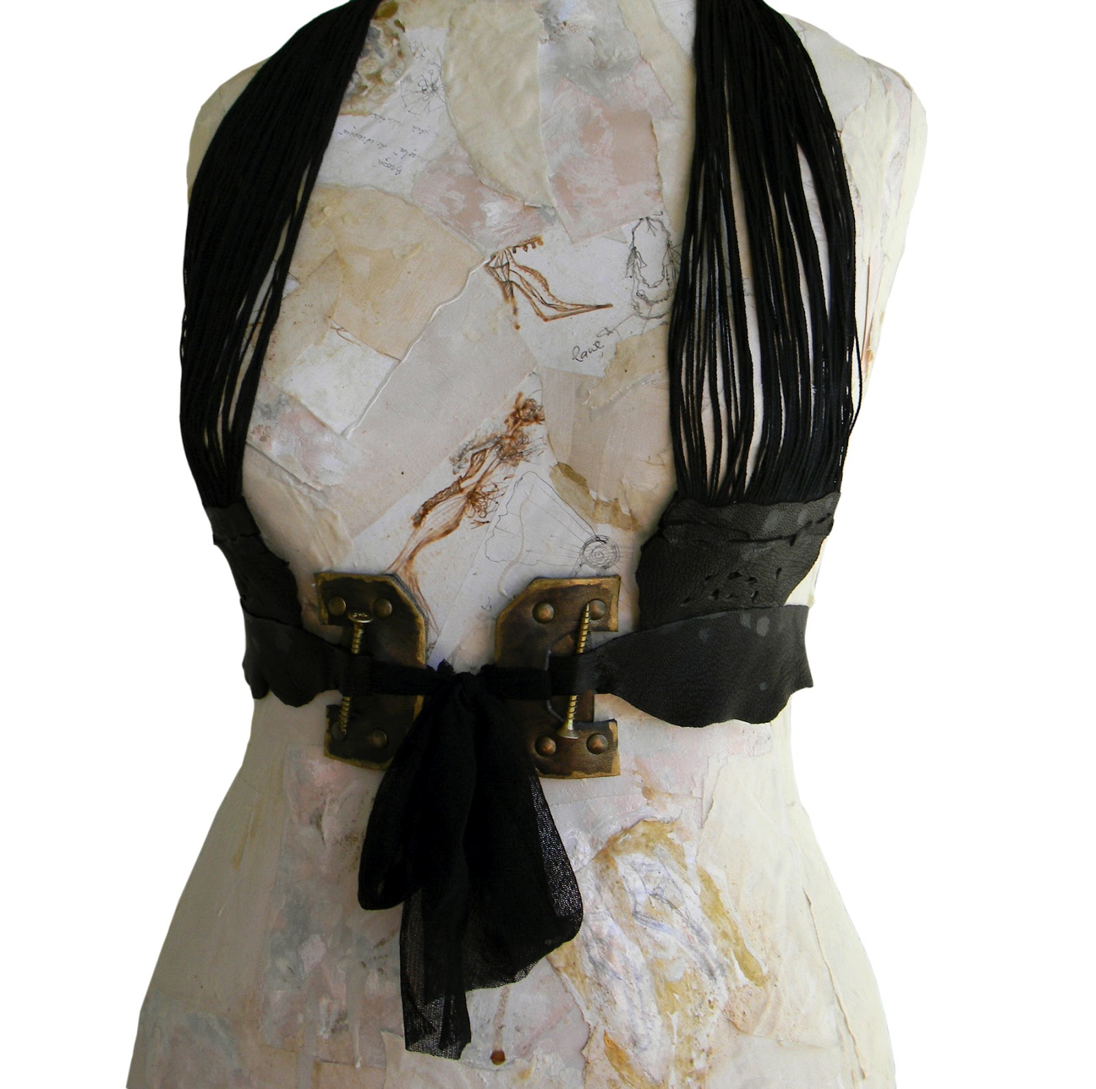 Leather Harness Gothic/Steampunk Inspired