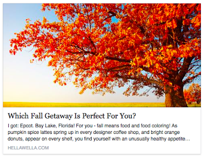 Which Fall Getaway are you? Of course I got Disney.