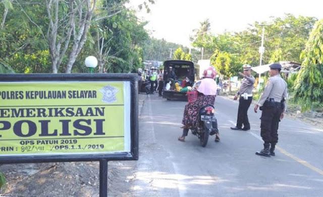 Operasi Patuh 2019 Di Selayar, Puluhan Pelanggar Lalin Terjaring