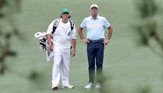 The father-son relationship has turned into a player-caddie relationship