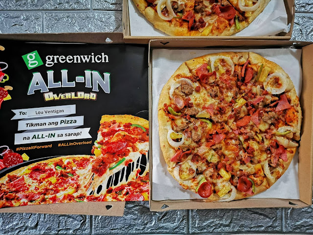 724351e056c1 You can get the All-in Overload pizza as part of the Overloaded Trio  exclusive delivery offer. For only P499, you and your barkada can enjoy 3  of your ...
