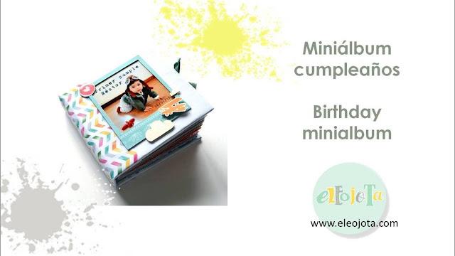 tutorial minialbum cumpleaños