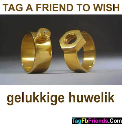 Happy  marriage in Afrikaans language