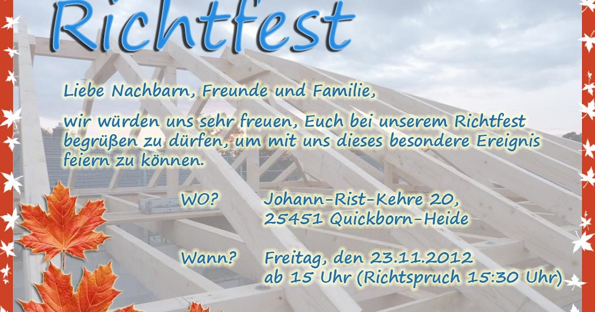 """projekt: """"unser traumhaus"""": einladung zum richtfest!"""