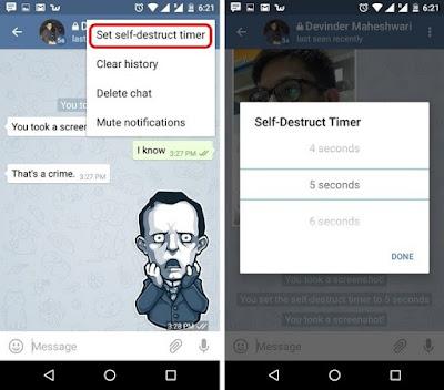 Fitur Secret Chat Telegram