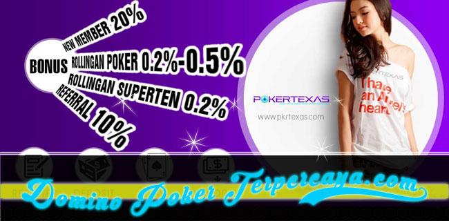 POKERTEXAS - BONUS DEPOSIT 20% MEMBER BARU POKER IDNPLAY