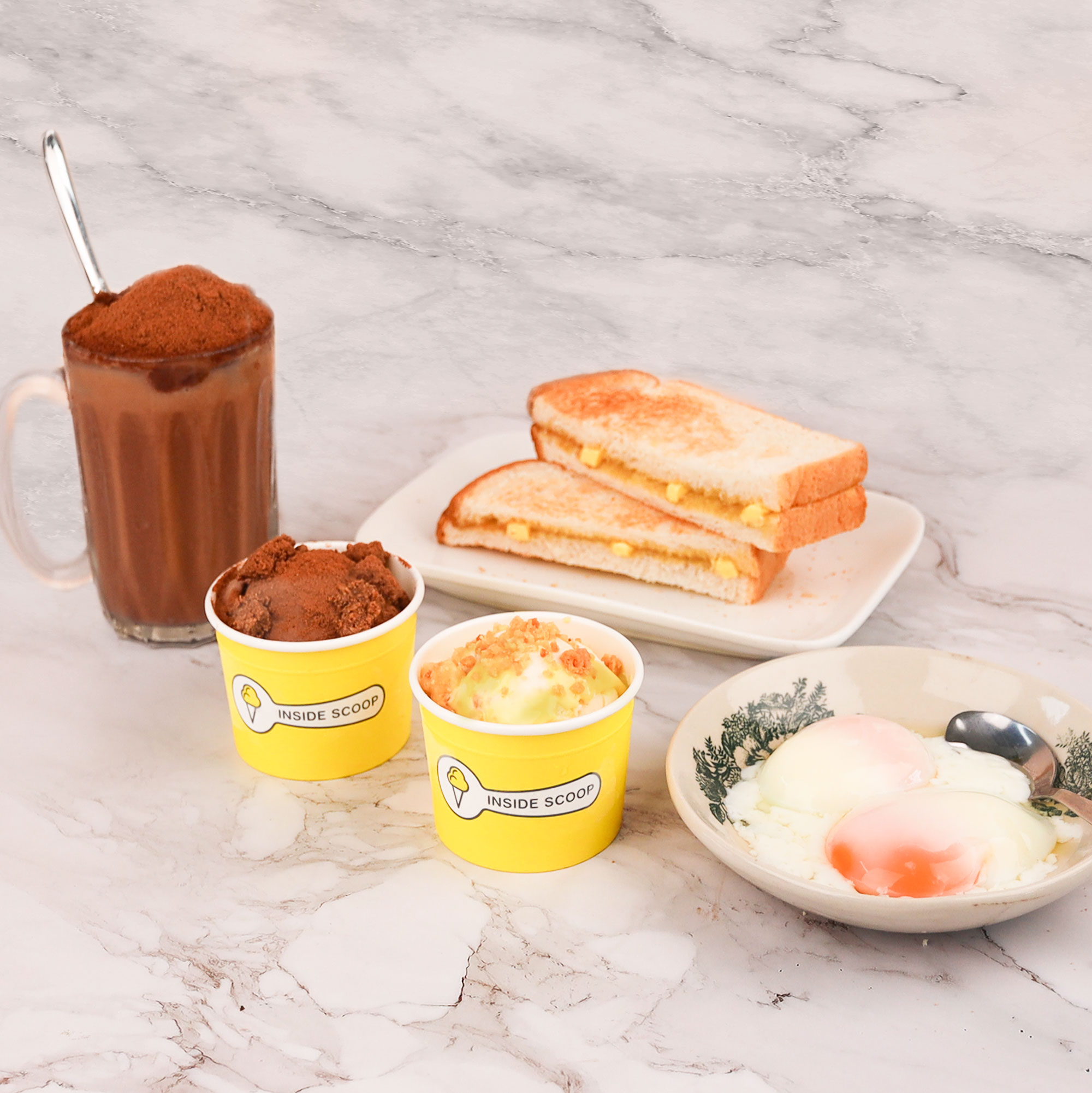 Kickstart the day with Inside Scoop's Breakfast Set