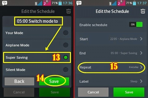 Auto turn airplane mode Android