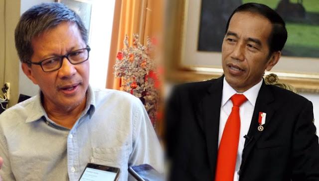 Rocky Gerung Sebut Pikiran Jokowi Korslet