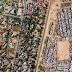 تقسيم المناطق الغنية والفقيرة في جنوب افريقيا من طائرة بدون طيار