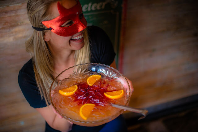 Orange is the New Black Sabbath Punch Recipe, Punch Bowl Social, Halloween punch