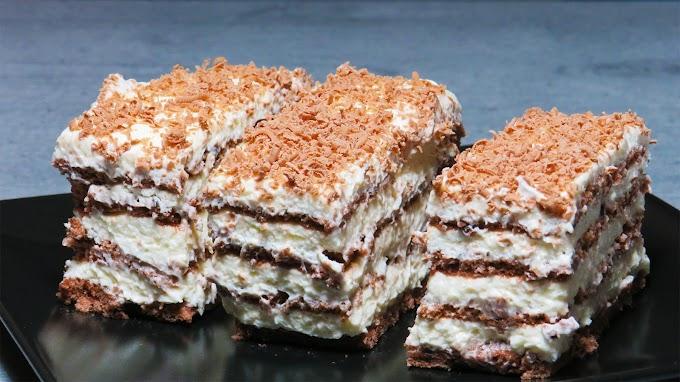 Prăjitură cu Foi de Ciocolată și Cremă de Mascarpone