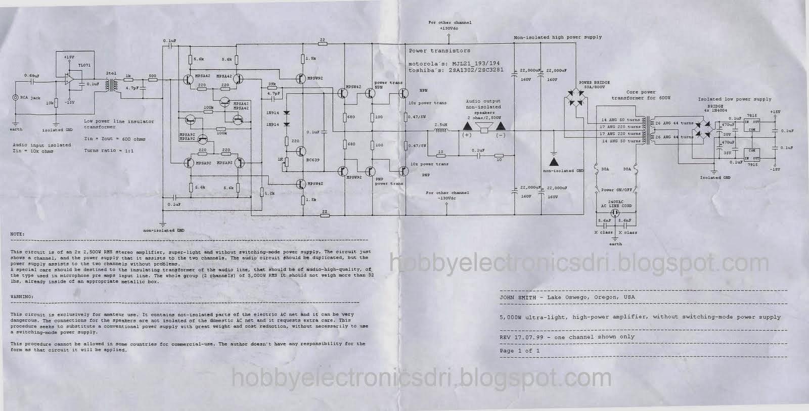 Fosti Audio Electronics Project Koleksi Power Amp