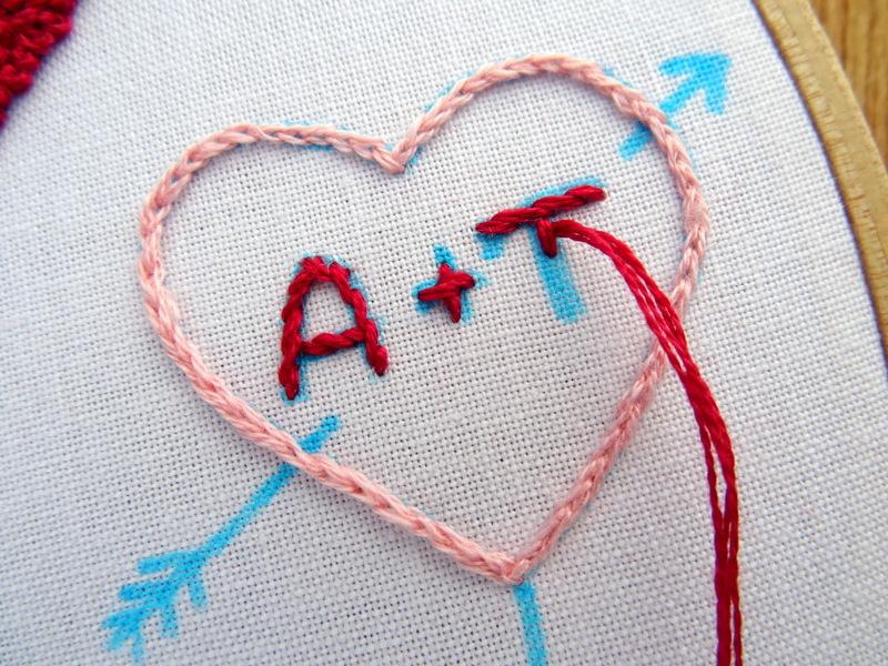 Hướng dẫn thêu trái tim tình yêu - Hình 3