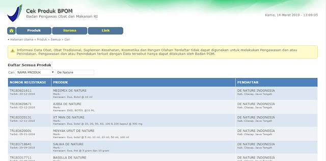 Gang Jie dan Gho Siah sudah terdaftar di BPOM