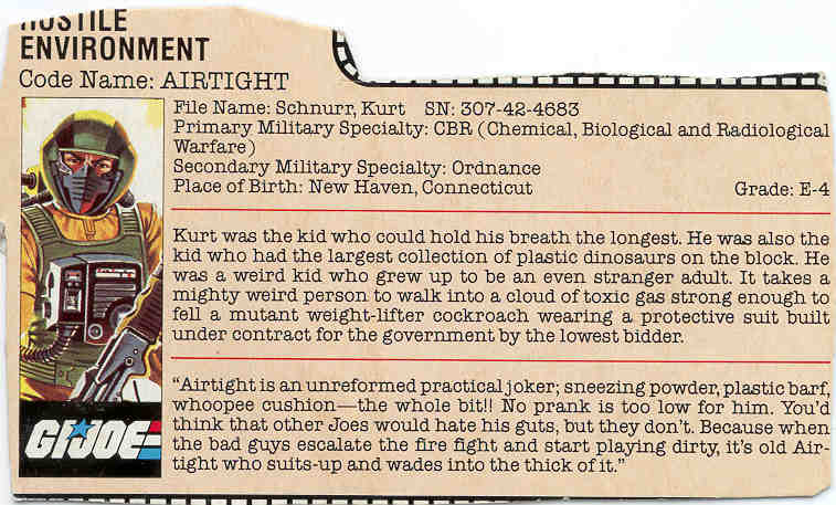 1985 Airtight, Filecard