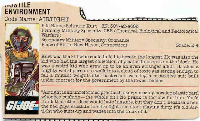 1985 Airtight, Filecard