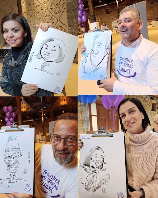 live caricatures events, Εκδηλώσεις καρικατούρας, corporate events , Ζωντανά καρικατούρες σε εταιρικές εκδηλώσεις, συνέδρια, εκθέσεις, επιχειρηματικές εκδηλώσεις.