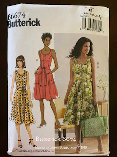 Butterick 6674 pattern cover  on Sharon Sews blog