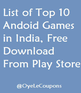 Top 10 Android Games in India