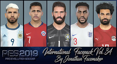 PES 2019 Facepack International Vol 34 by Jonathan Facemaker