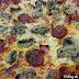 Pizza de chorizo, champiñones y jamón york con masa de sémola de trigo