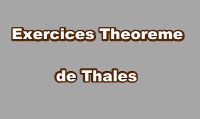 Exercice Theoreme de Thales