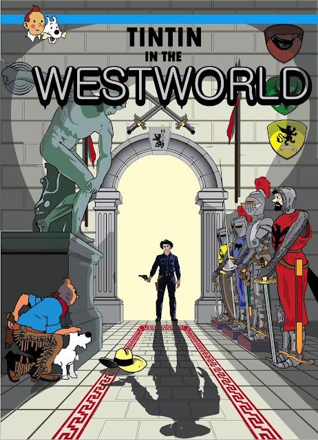 Meme de humor de Tintín y Westworld