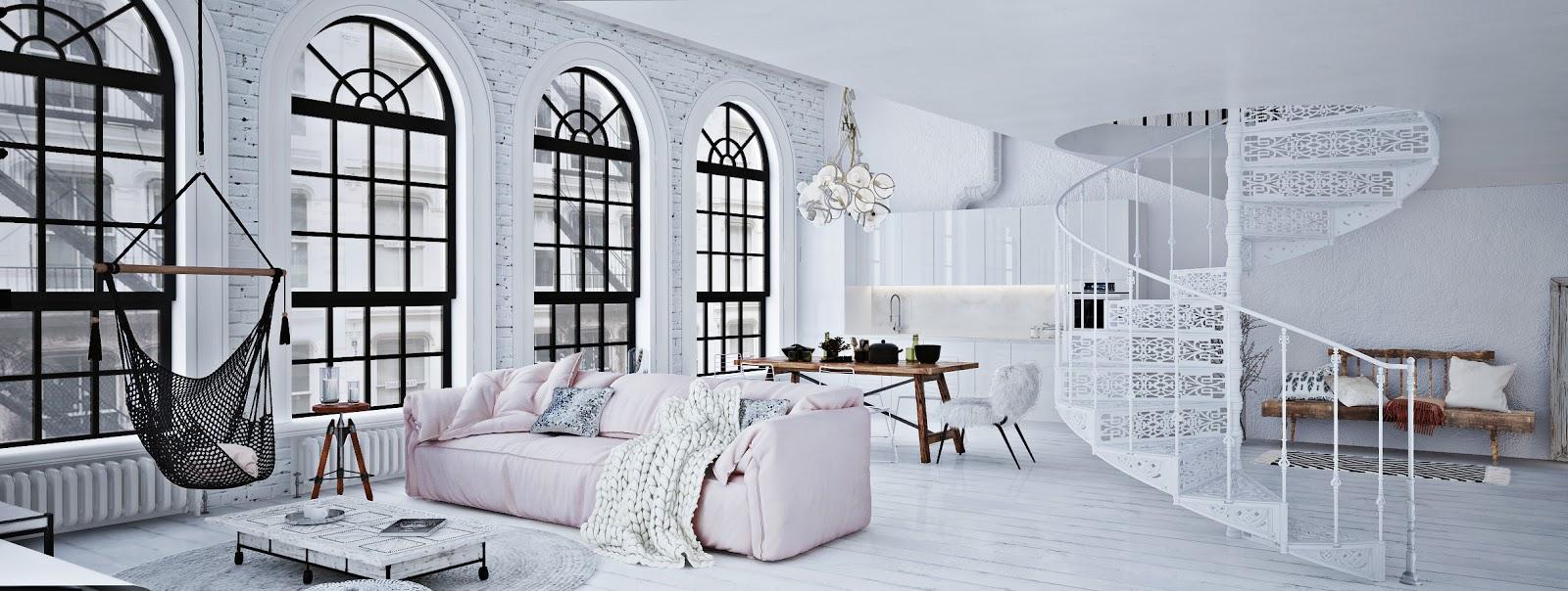 Proiect de amenajare pentru un loft din Berlin