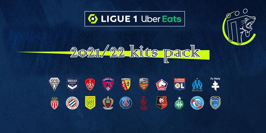 Ligue 1 Kitpack Season 2021-2022 For PES 2013