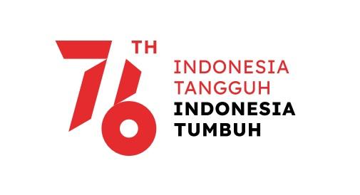 Logo peringatan hari kemerdekaan Indonesia ke-76 Tahun 2021
