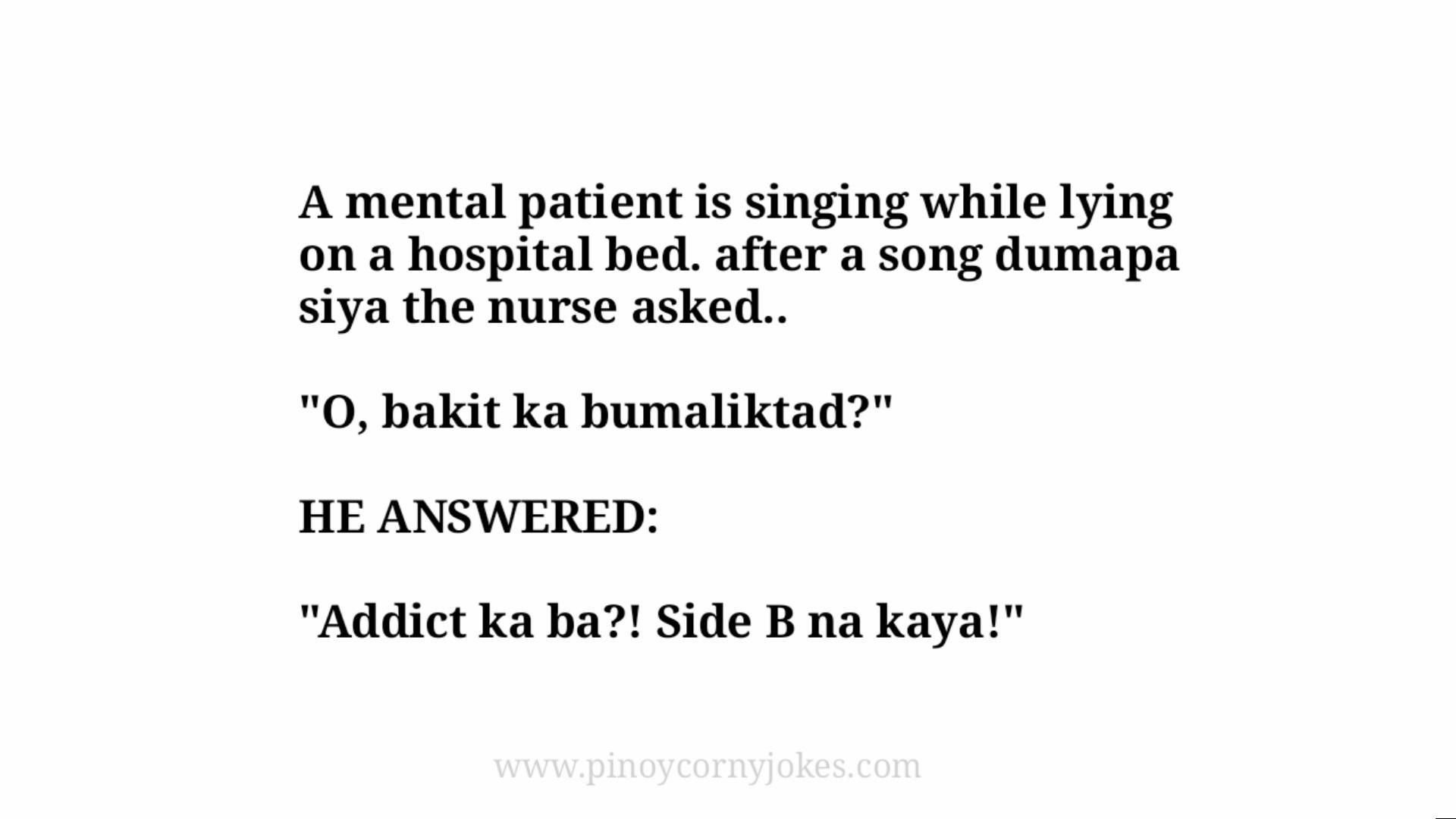 patient singing pinoy nurse jokes