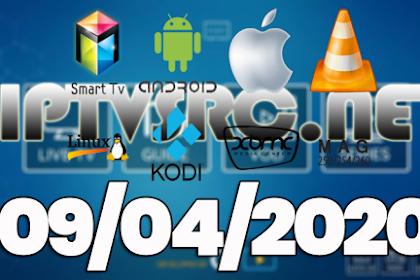 Daily iptv m3u playlist 09 April 2020