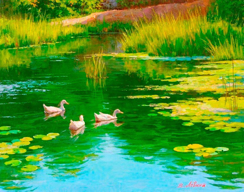 cuadros faciles de realizar con leo diseos de paisajes pintados con leo sobre lienzo