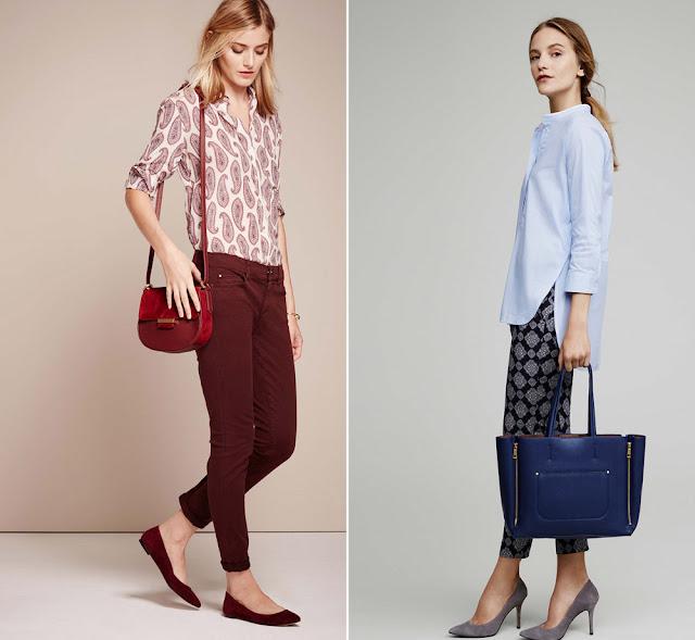 Блузка и брюки с монохромным принтом