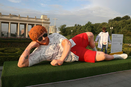 Check Out This Giant Ed Sheeran Statue in Moscow Capital of Russia