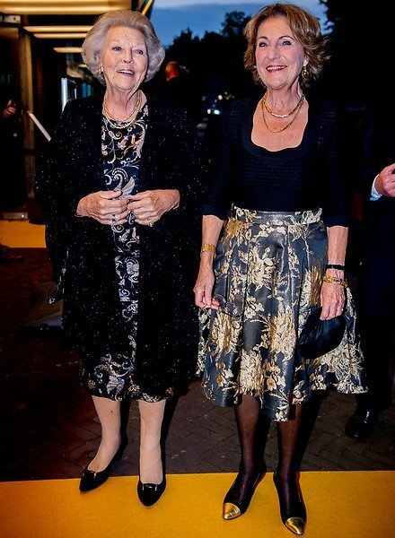 Princess Beatrix and Princess Margriet attended the anniversary performance 'Tutti' by Introdans in Arnhem City Theater