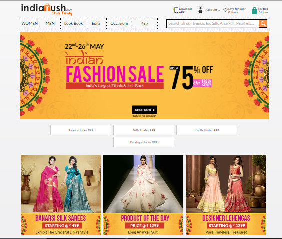 IndiaRush - A Best Online Portal For Both Men & Women Fashion