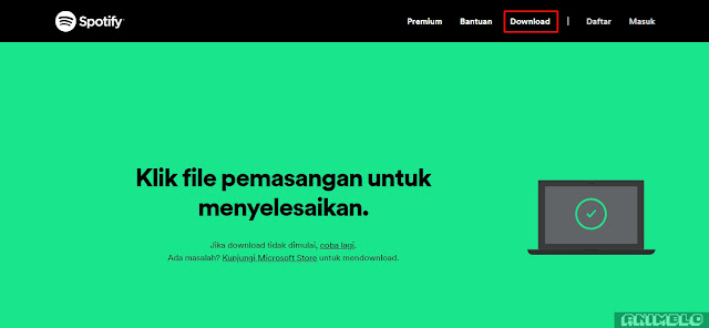 proses download installer spotify pc