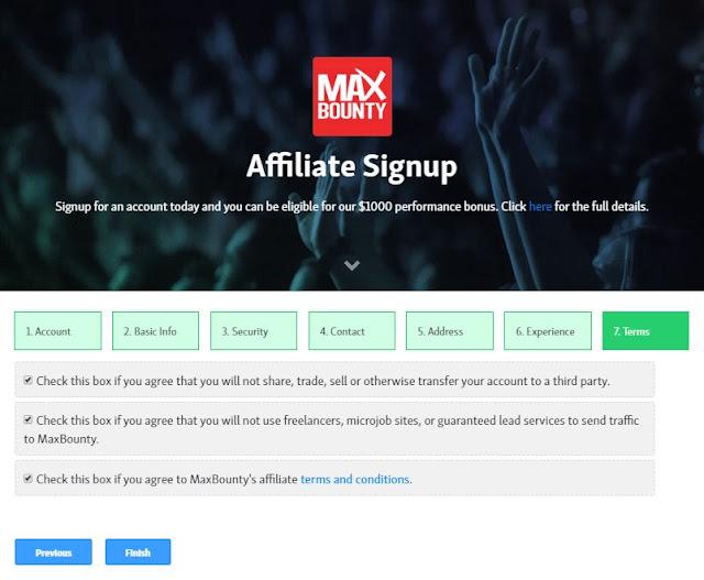 التسجيل والقبول في شركة ماكس باونتي Max Bounty