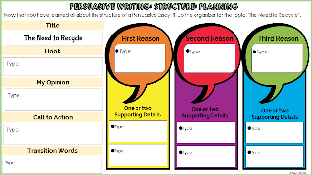 persuasive opinion digital writing google classroom google slides distance learning