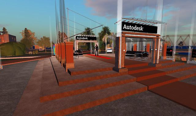 render de la entrada al complejo Autodesk