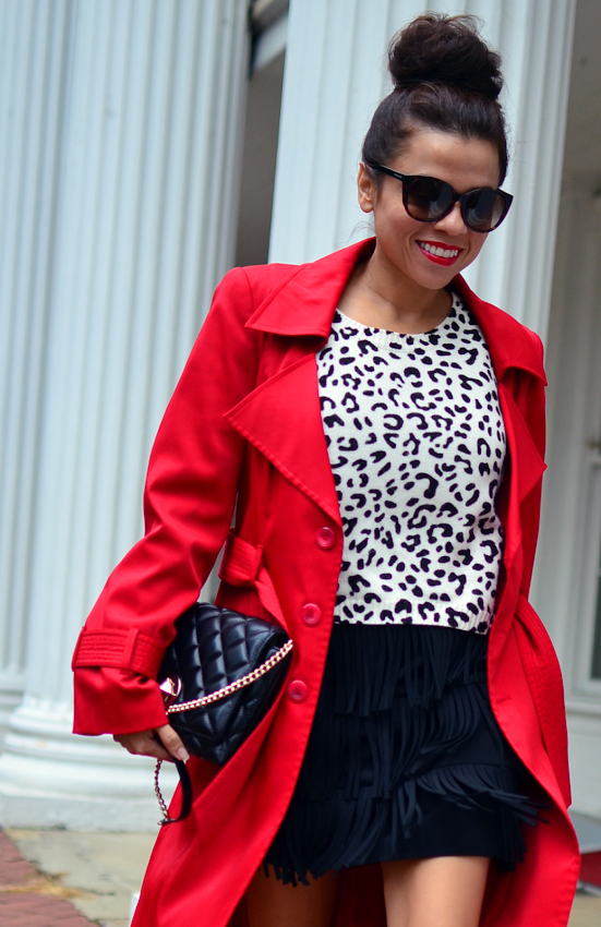 Red coat street style
