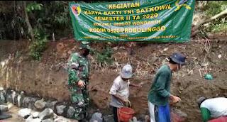 Ringankan Beban Masyarakat , Koramil 0820/02 wonoasih  Laksanakan Karya Bhakti