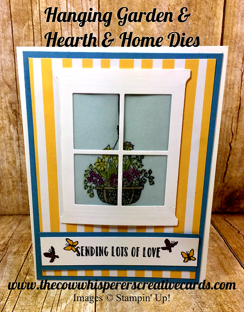 Card, Hanging Garden, Hearth & Home, Stampin Blends