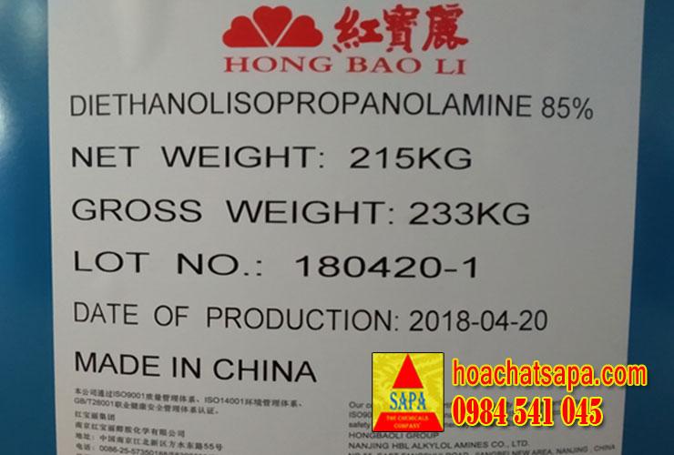 Diethanolisopropanolamine (DEIPA) 85%