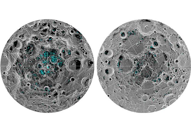 Tinuku Chandrayaan-1 confirmed ice at the moon's poles