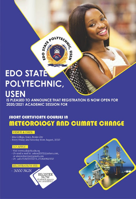 EDOPOLY Meteorology & Climate Change Short Course Form 2020/2021