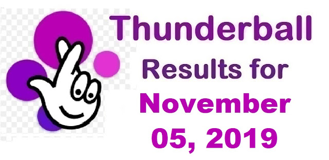 Thunderball Results for Tuesday, November 05, 2019