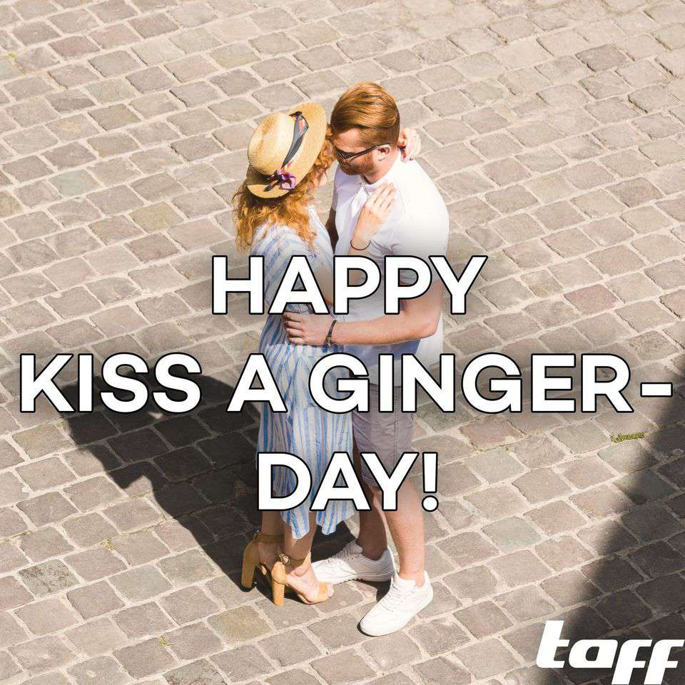 Kiss a Ginger Day Wishes for Instagram